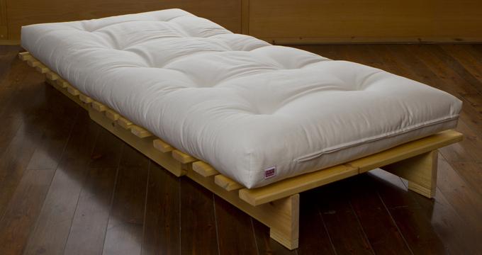 Pin futon sofa cama moderno dormimundo 319900 en for Sofa cama de madera 1 plaza